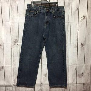 Calvin Klein Mens Jeans 32 Straight Leg Cotton